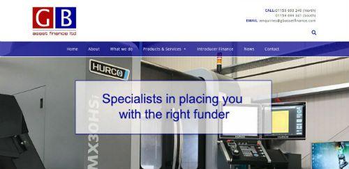 Website design - GB Asset Finance