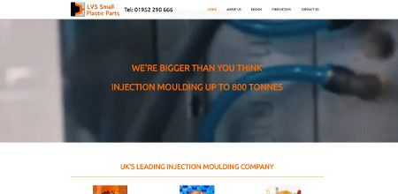 Website design - Small Plastic Parts homepage