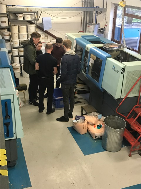 Students at Pentagon Plastics - UK Plastics News