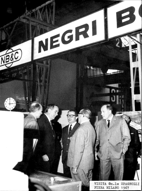 M.Negri and M.Bossi at the Milano Trade Fair in 1967. - UK Plastics News