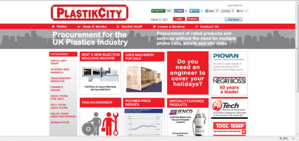 UK plastics news first PlastikCity homepage