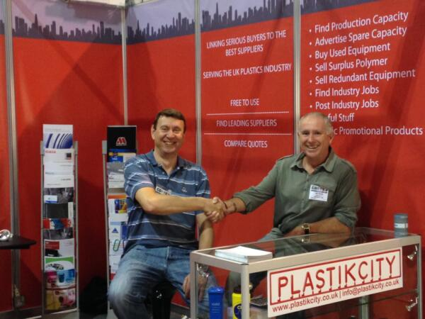 UK plastics news Carl and Richard at PDM 2015
