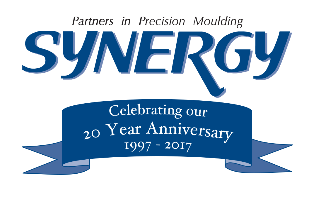 Synergy Plastics anniversary logo