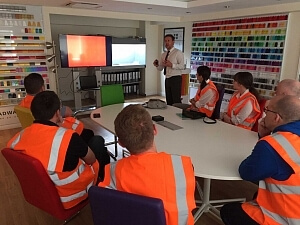 UK plastics news Broadway Colours workshop