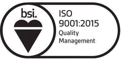 Plastics news BSI ISO9001:2015 logo
