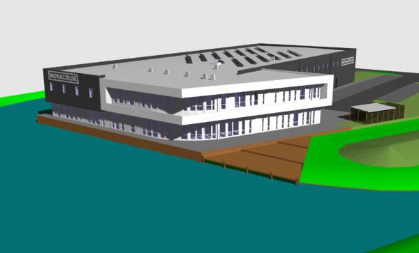 Plastics news new Movacolor building