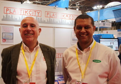 Plastics news Andy from Dugdale and Carl from PlastikCity