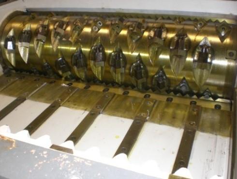 Shredder cutting chamber