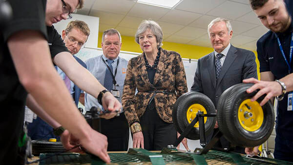 Plastics news Theresa May at EEF Apprentice Centre