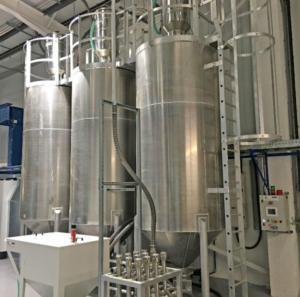 Plastics news Barton Fabrications install three new 50 tonne silos and three 3 tonne day bins