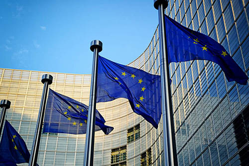 Plastics news European Union flags