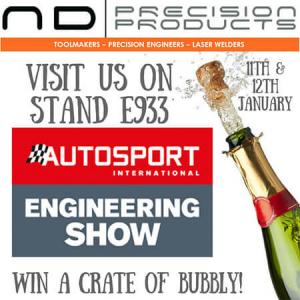Plastics news ND Precision Products at Autosport