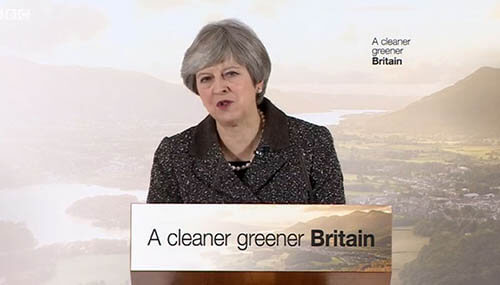 Plastics news Theresa May