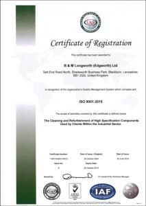 Plastics news Longworth Awarded ISO 9001:2015