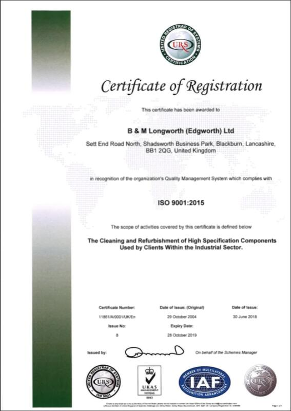 Plastics news Longworth Awarded ISO 9001:2015