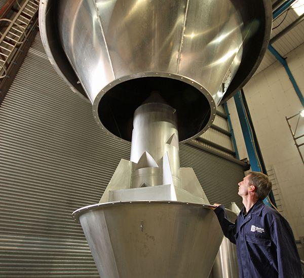 Aluminium silo at Barton Fabrications