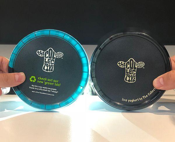 Black Plastic Yogurt pot lids