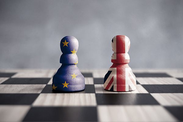Brexit Chess board