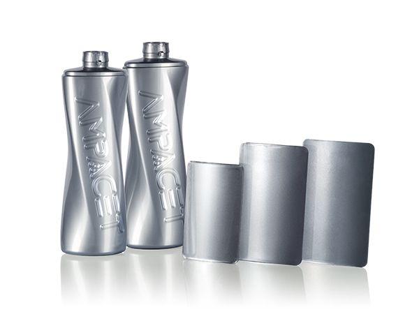 Ampacet Faux Foil Bottles