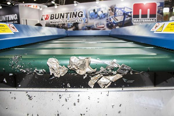 Plastics news metal separator