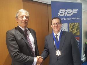 BPF President Martin Althorpe right and Past President Bruce Margetts left