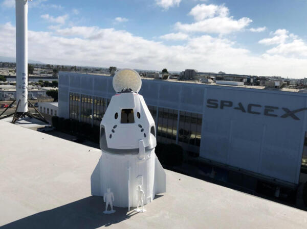 3D Model at SpaceX HQ