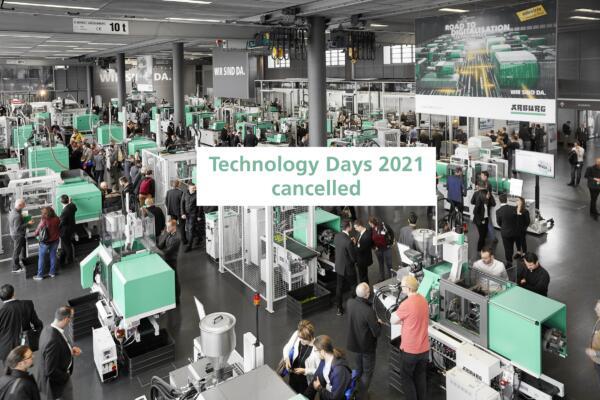ARBURG Technology Days 2021 cancelled