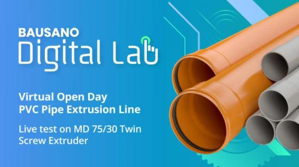 Bausano Virtual Open Day PVC Pipe Extrusion Line