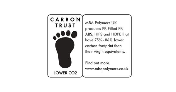 MBA Polymers Achieves the Carbon Trust's Lower CO2 Label