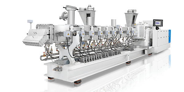 ZE BluePower twin-screw extruder for processing four metric tons of PP carpet scraps per hour